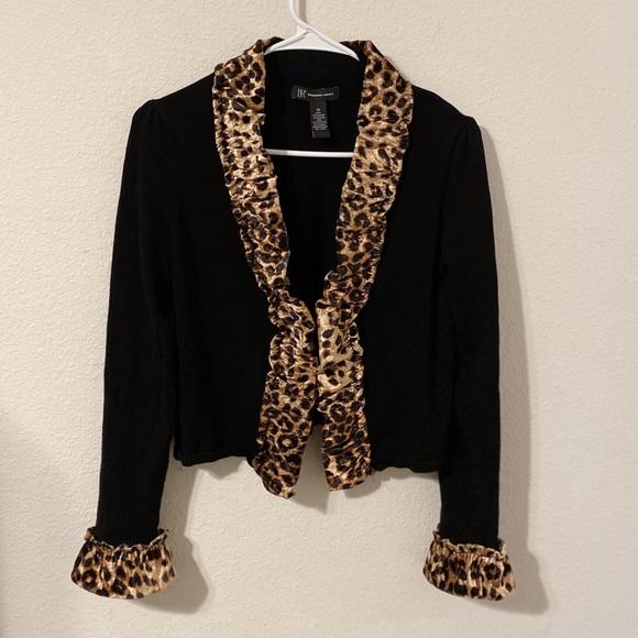 INC International Concepts Tops - leopard print cardigan